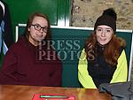 Ailish Carroll and Anna Byrne at the Christmas fair in the Market house Duneer. Photo:Colin Bell/pressphotos.ie