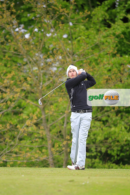 C. McGrogan (Newbridge) on the 5th tee during the Mullingar Scratch Trophy Day 1at Mullingar Golf Club Belvedere 18th May 2013.Picture: Thos Caffrey www.golffile.ie...