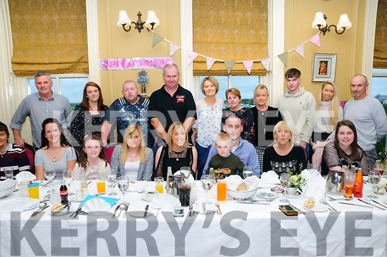 Twins Tara & Trisha Flavin, Ballylongford celebrating their 30th birthdays with family & friends atthe Listowel Arms Hotel on Sunday afternoon last.