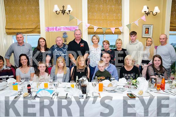 Twins Tara & Trisha Flavin, Ballylongford celebrating their 30th birthdays with family & friends atthe Listowel Arms Hotel on Sunday afternoon last.