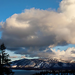 """""""Heavenly Tahoe""""  Heavenly Ski Resort I captured this image during the month of January 2013.  The clouds were enormous and kept changing every 10 minutes.  I think I have 32GB of photos and video of this scene. South Lake Tahoe is one beautiful places to visit no matter what time of the year."""