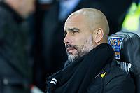 Manchester City manager Pep Guardiola during the EPL - Premier League match between Swansea City and Manchester City at the Liberty Stadium, Swansea, Wales on 13 December 2017. Photo by Mark  Hawkins / PRiME Media Images.