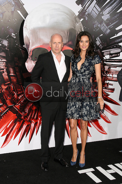 """Bruce Willis and Wife Emma<br /> at the """"The Expendables"""" Film Screening, Chinese Theater, Hollywood, CA. 08--03-10<br /> David Edwards/Dailyceleb.com 818-249-4998"""