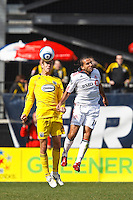 27 MARCH 2010:  Eric Brunner of the Columbus Crew (23) and Dwayne De Rosario of Toronto FC (14) during the Toronto FC at Columbus Crew MLS game in Columbus, Ohio on March 27, 2010.