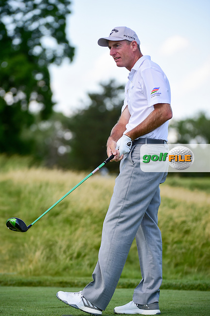 Jim Furyk (USA) watches his tee shot on 12 during Thursday's round 1 of the 117th U.S. Open, at Erin Hills, Erin, Wisconsin. 6/15/2017.<br /> Picture: Golffile | Ken Murray<br /> <br /> <br /> All photo usage must carry mandatory copyright credit (&copy; Golffile | Ken Murray)