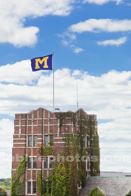 9/9/10 Michigan Union tower peeks into the sky.