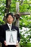 Norihide Nagano, tourism official and curator of the museum and site of Christ's resting place in Shingo Village, Aomori Prefecture, northern Japan. Some residents of Shingo say that Jesus spent 12 years in Japan and is buried in the village.