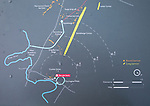 Information map showing main archaeological sites in the Stonehenge prehistoric area, Amesbury, Wiltshire, England, UK