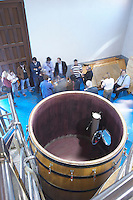 fermentation tank interior Bodegas Margon , DO Tierra de Leon , Pajares de los Oteros spain castile and leon