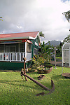 One of the charming Hawaiian style buildings in Hanalei, Kauai