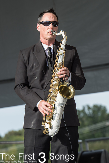 Clint Maedgen of The Preservation Hall Jazz Band at the 2015 Pilgrimage Music & Cultural Festival in Franklin, Tennessee.