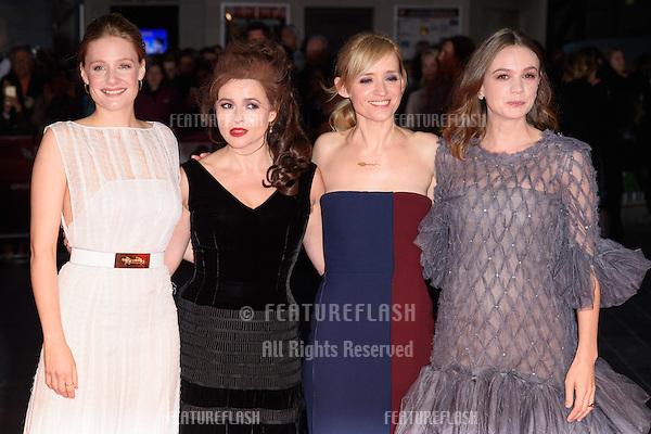 Romola Garai, Helena Bonham Carter, Anne Marie Duff &amp; Carey Mulligan at the BFI London Film Festival premiere of &quot;Suffragette&quot; at the Odeon Leicester Square, London.<br /> October 7, 2015  London, UK<br /> Picture: Steve Vas / Featureflash