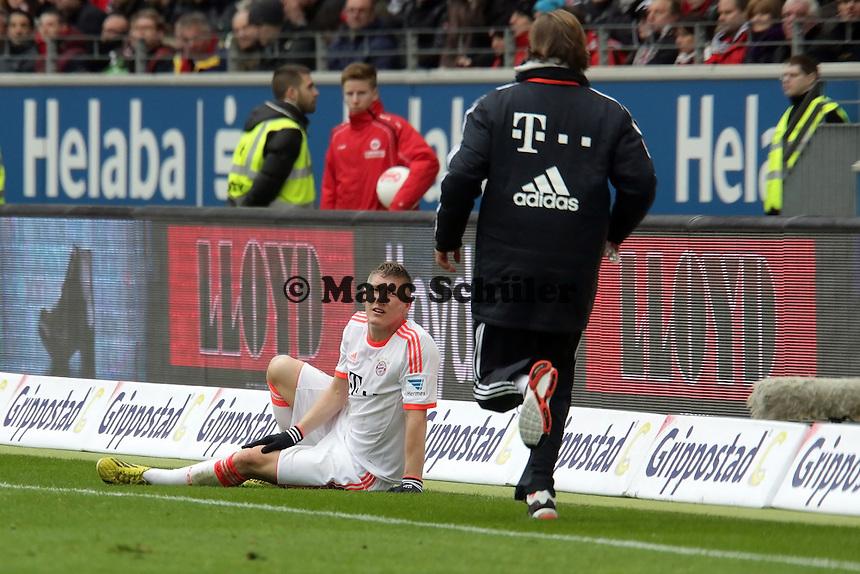 Bastian Schweinsteiger (Bayern) verletzt