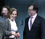 "Elaine May, Joan Allen, Kenneth Lonergan during the Opening Night Curtain Call bows for ""The Waverly Gallery"" at the Golden Theatre on October 25, 2018 in New York City."
