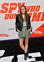 Justine Wachsberger at the world premiere for &quot;The Spy Who Dumped Me&quot; at the Fox Village Theatre, Los Angeles, USA 25 July 2018<br /> Picture: Paul Smith/Featureflash/SilverHub 0208 004 5359 sales@silverhubmedia.com