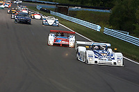 The #20   Riley & Scott Mk III 010/Ford  of Rob Dyson, Elliott Forbes-Robinson, Andy Wallace  in action, 6 Hours of the Glen Grand-Am Rolex Series race, Watkins Glen International Raceway, Watkins Glen NY, May 19, 2001. (Photo by Brian Cleary/www.bcpix.com)