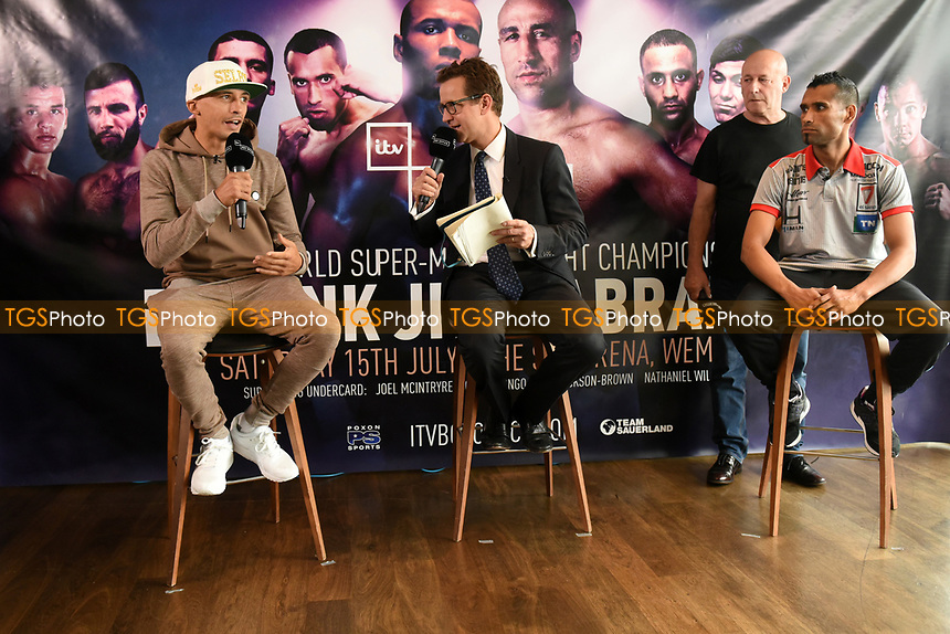 Lee Selby speaks during a Press Conference at the Sky Bar, Hilton Hotel on 13th July 2017