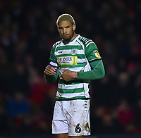 Yeovil Town's Omar Sowunmi<br /> <br /> Photographer Andrew Vaughan/CameraSport<br /> <br /> The EFL Sky Bet League Two - Lincoln City v Yeovil Town - Friday 8th March 2019 - Sincil Bank - Lincoln<br /> <br /> World Copyright © 2019 CameraSport. All rights reserved. 43 Linden Ave. Countesthorpe. Leicester. England. LE8 5PG - Tel: +44 (0) 116 277 4147 - admin@camerasport.com - www.camerasport.com