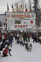 Gene L Smith Willow restart Iditarod 2008.