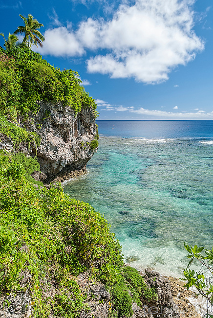 Utuko sea track and reef on the island on Niue