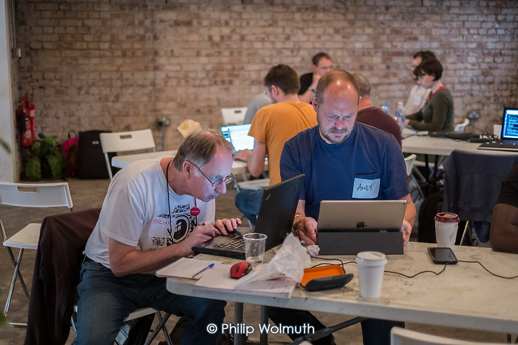 Momentum Hackathon.  Collaborative election software development workshop, Shoreditch, London.
