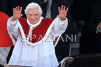Pope Benedict XVI  during pastoral visit to the San Giovanni della Croce Parish in Rome on March 7, 2010