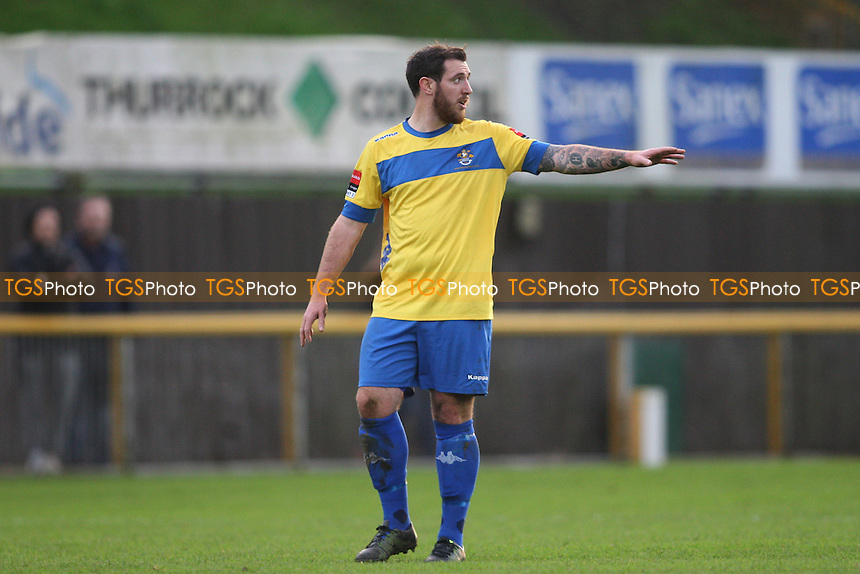 Nick Reynolds of Romford during Romford vs Soham Town Rangers, Ryman League Divison 1 North Football at Ship Lane, Thurrock, England on 19/12/2015