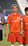 Clemson's Justin Moore on Wednesday, November 9th, 2005 at SAS Stadium in Cary, North Carolina. The Clemson Tigers defeated the University of Virginia Cavaliers 4-1 during their Atlantic Coast Conference Tournament Quarterfinal game.