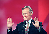 Former United States President George H.W. Bush speaks at the 1996 Republican National Convention at the San Diego Convention Center in San Diego, California on August 12, 1996.  <br /> Credit: Ron Sachs / CNP