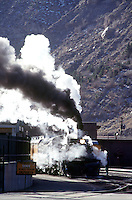 SOURCES OF STEAM<br /> Steam Locomotive Of A Train.<br /> Durango, CO.