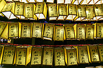 Paper lanterns are displayed during the annual ''Mitama Festival'' at Yasukuni Shrine on July, 13, 2017, Tokyo, Japan. Over 30,000 lanterns are displayed along the entrance of the shrine to help spirits find their way during the annual celebration for the spirits of ancestors. The festival runs until July 16th. (Photo by Rodrigo Reyes Marin/AFLO)