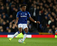 29th October 2019; Goodison Park, Liverpool, Merseyside, England; English Football League Cup, Carabao Cup Football, Everton versus Watford; Alex Iwobi of Everton passes the ball in midfield  - Strictly Editorial Use Only. No use with unauthorized audio, video, data, fixture lists, club/league logos or 'live' services. Online in-match use limited to 120 images, no video emulation. No use in betting, games or single club/league/player publications
