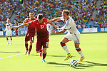 (L to R) <br /> Joao Pereira (POR), <br /> Mario Gotze (GER), <br /> JUNE 16, 2014 - Football /Soccer : <br /> 2014 FIFA World Cup Brazil <br /> Group Match -Group G- <br /> between  Germany 4-0 Portugal <br /> at Arena Fonte Nova, Salvador, Brazil. <br /> (Photo by YUTAKA/AFLO SPORT)