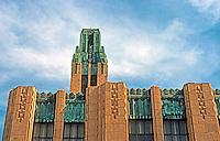 Los Angeles: Bullock's, Wilshire. Moderne Facade.  Photo '82.