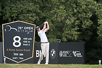 Nicolas Colsaerts (BEL) in action on the 7th hole during the first round of the 76 Open D'Italia, Olgiata Golf Club, Rome, Rome, Italy. 10/10/19.<br /> Picture Stefano Di Maria / Golffile.ie<br /> <br /> All photo usage must carry mandatory copyright credit (© Golffile | Stefano Di Maria)