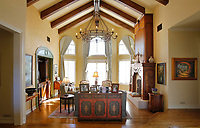 Oct. 16, 2014_San Diego_ California_USA_| A  sitting room in the Ranch Santa Fe home of Eric and Sandy Freeberg.   |   _Mandatory Photo Credit: Photo by K.C. Alfred/UT San Diego/Copyright 2014 . . . .