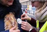 Demonstration gegen das neue Mediengesetz in Polen am 09.01. in Warschau