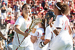 Los Angeles, CA 04/22/16 - Cynthia Del Core (USC #44) in action during the NCAA Stanford-USC Division 1 women lacrosse game at the Los Angeles Memorial Coliseum.  USC defeated Stanford 10-9/