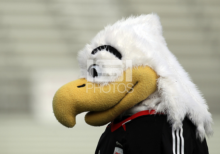 BOYDS, MARYLAND - July 22, 2012:  Talon, mascot of DC United Women before the game against the Charlotte Lady Eagles for the W League Eastern Conference Championship at Maryland Soccerplex, in Boyds, Maryland on July 22. DC United Women won 3-0.