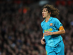 Carles Puyol of Barcelona during the Champions League semi-final 2nd leg match at Old Trafford, Manchester. Picture date 29th April 2008. Picture credit should read: Simon Bellis/Sportimage