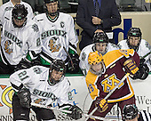 Joe Finley, Erik Fabian, Matt Smaby, Rylan Kaip, Kris Chucko, Ryan Duncan - The University of Minnesota Golden Gophers defeated the University of North Dakota Fighting Sioux 4-3 on Friday, December 9, 2005, at Ralph Engelstad Arena in Grand Forks, North Dakota.
