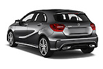 Car pictures of rear three quarter view of 2016 Mercedes Benz A-Class Fascination 5 Door Hatchback Angular Rear