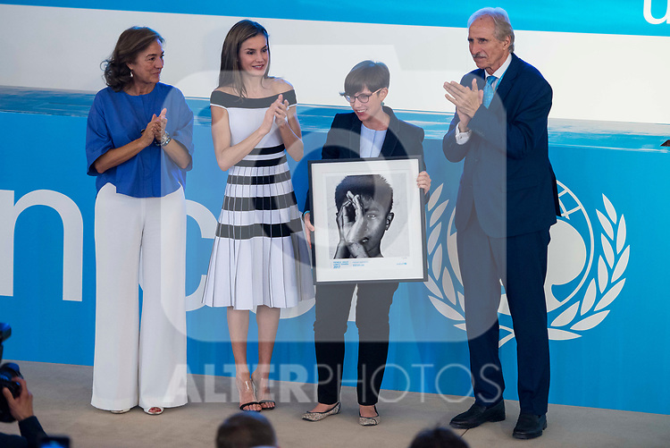 Queen Letizia and Cristina Balbas of 'Escuelab' attends to UNICEF Awards 2017 in Madrid, June 13, 2017. Spain.<br /> (ALTERPHOTOS/BorjaB.Hojas)
