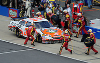 Oct 5, 2008; Talladega, AL, USA; NASCAR Sprint Cup Series driver Mike Wallace pits during the Amp Energy 500 at the Talladega Superspeedway. Mandatory Credit: Mark J. Rebilas-