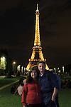 Beth and John at the Eiffel Tower, Champ du Mars, Paris, France.