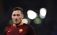 Calcio, Serie A: Roma vs Frosinone. Roma, stadio Olimpico, 30 gennaio 2016.<br /> Roma&rsquo;s Francesco Totti during the Italian Serie A football match between Roma and Frosinone at Rome's Olympic stadium, 30 January 2016.<br /> UPDATE IMAGES PRESS/Isabella Bonotto