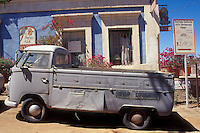 Purple 1960's Volkswagon truck in the Spanish colonial town of Todos Santos , Baja California Sur, Mexico
