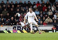 Barclays Premier League, West Ham United (red)V Swansea City Fc (white), Boelyn Ground, 02/02/13<br /> Pictured: Chico Flores chased by Mohamed Diame<br /> Picture by: Ben Wyeth / Athena Picture Agency<br /> info@athena-pictures.com
