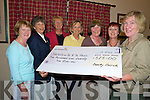 Dorothy Nestor, Lady Captain Beaufort Golf Resort, pictured as she presented a cheque for EUR525 to the Killarney St Vincvent de Paul society, at the clubhouse on Wednesday night. Pictured are Renee Clifford, Margaret Cremin, Sally Cooper, Josephine O'Shea, Joan O'Sullivan and Mary Healy..........