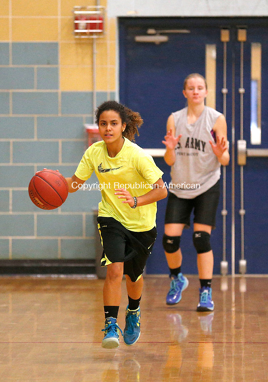 Waterbury, CT- 03 December 2015-120315CM09- Kennedy's Lynadia Whiting runs through practice drills in Waterbury on Thursday.      Christopher Massa Republican-American